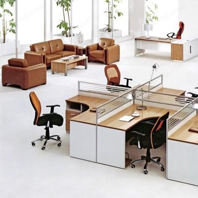 职员电脑桌 多人屏风工作位07
