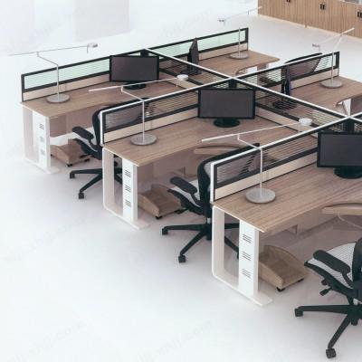 员工屏风工作位 职员电脑桌06