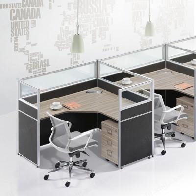 职员电脑桌 屏风组合办公桌05