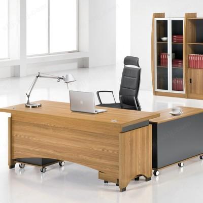 时尚板式大班台 简约现代老板桌08