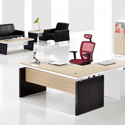 河北盛朗简约钢木经理台 办公桌05