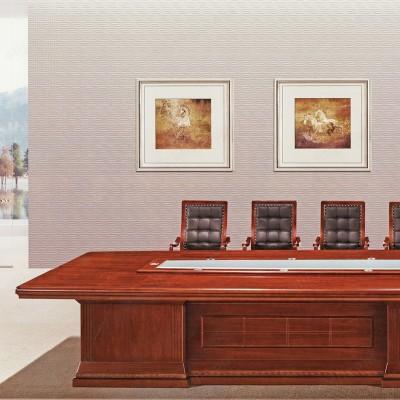 河北盛朗实木油漆大型会议桌05