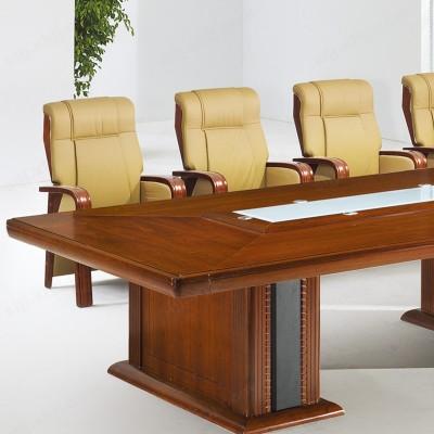 河北盛朗油漆会议桌 贴木皮开会桌04