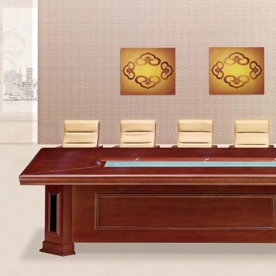 简约现代长方形会议室大型会议桌02