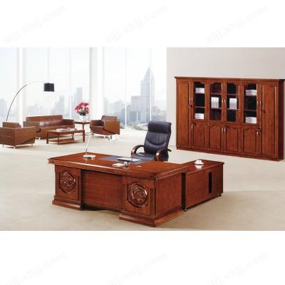 油漆总裁办公桌 实木老板台05