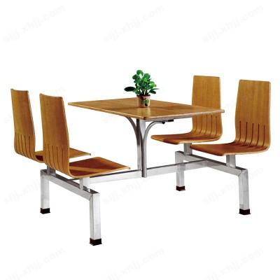 河北盛朗连体防火板板餐桌椅14
