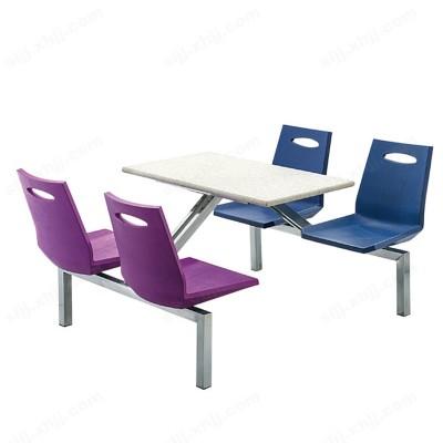 河北盛朗食堂一体餐桌椅10
