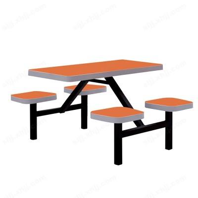 河北盛朗连体餐桌椅 食堂餐桌椅04