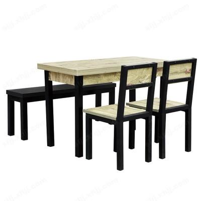 河北盛朗四人位分体餐桌椅01