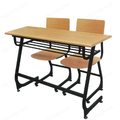 环保简约双人培训班课桌椅11