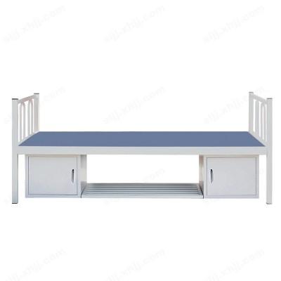 河北盛朗带储物柜置物架单人床03