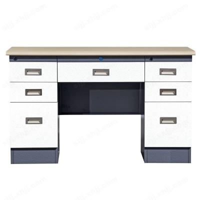 河北盛朗纯白三屉双门办公桌17