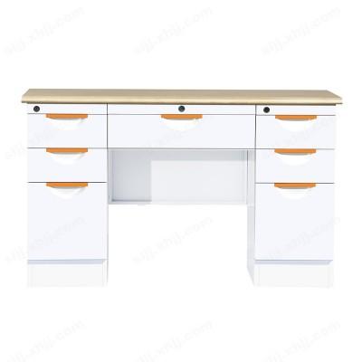 纯白七屉办公桌15 铁皮办公桌