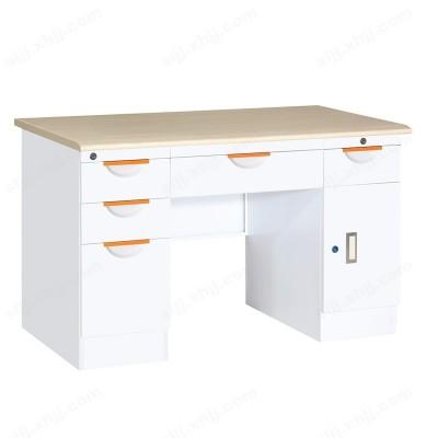 纯白五屉单门办公桌14 写字台