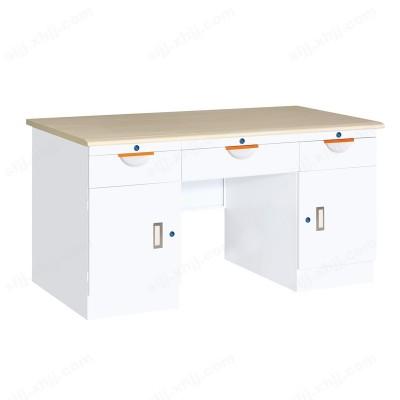 纯白三屉双门办公桌13 钢制办公桌