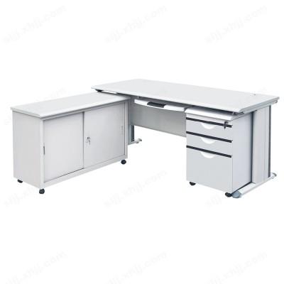 河北盛朗带副台转角钢制办公桌04
