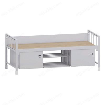 河北盛朗军区钢制单层床带柜14