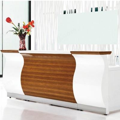 白色木纹高档质感简约办公前台14