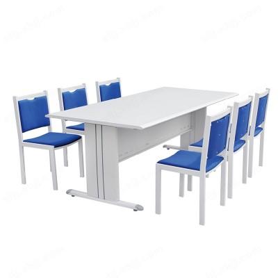 图书馆书桌 阅览室培训阅览桌椅05