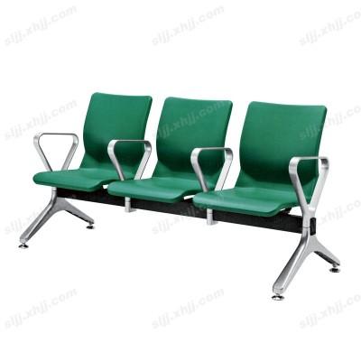 天津三人位绿色连排等候椅23