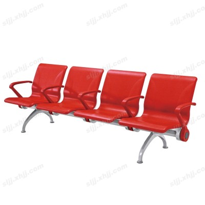 天津四人位红色营业厅等候椅22