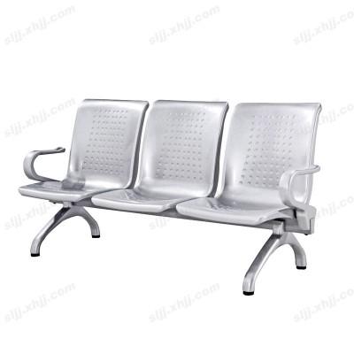天津三人位银色大厅等候椅18