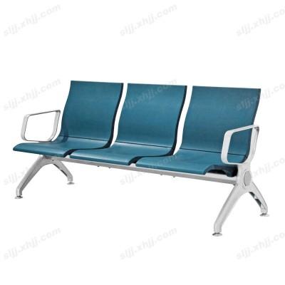 天津深蓝色不锈钢车站排椅16