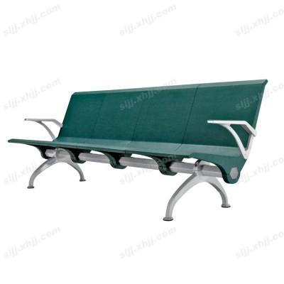 天津四人位绿色营业厅时尚连排椅15