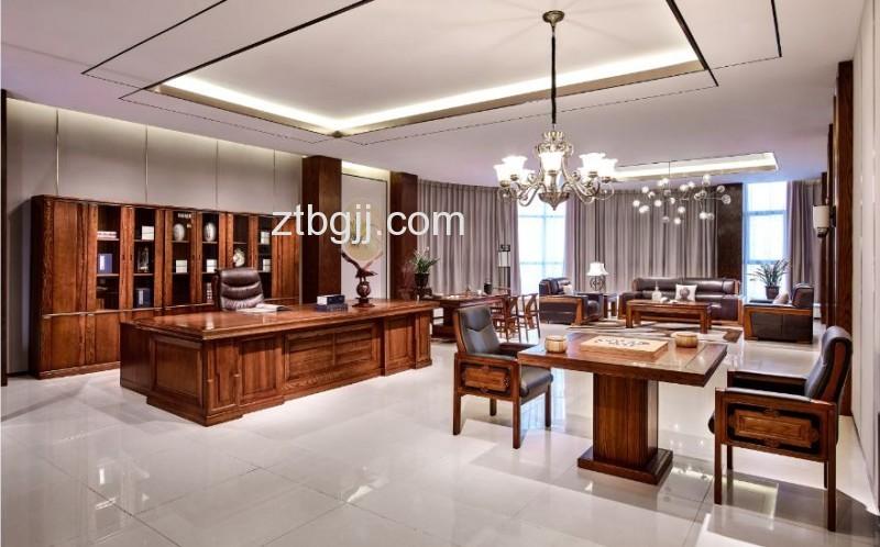 香河中泰办公家具 香河办公家具 纯实木总裁老板领导办公桌