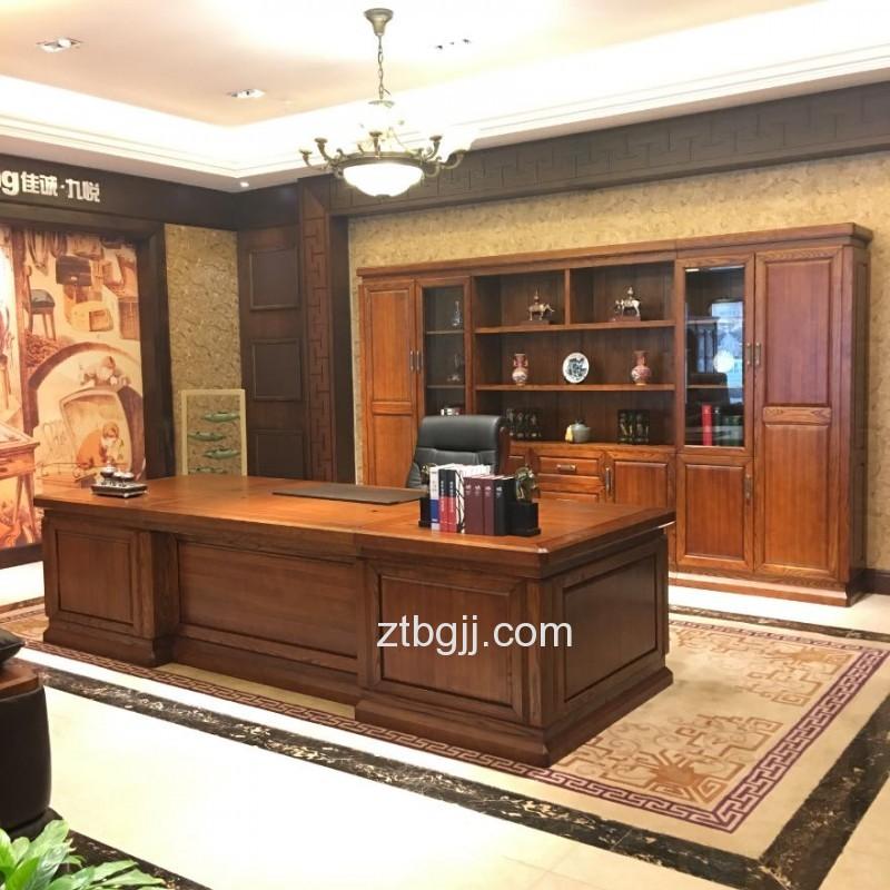 香河中泰办公家具 香河办公家具 全实木总裁领导老板办公桌班台