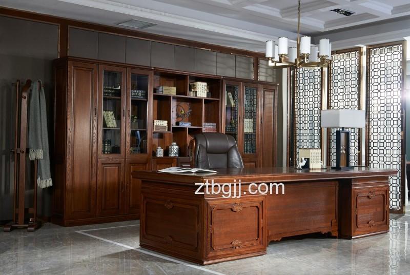 香河中泰办公家具 香河办公家具 全实木总裁老板领导办公班台