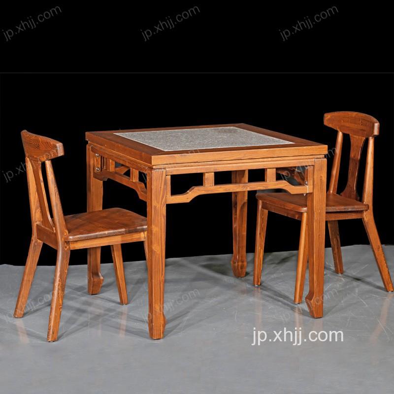 全实木重庆小面桌椅