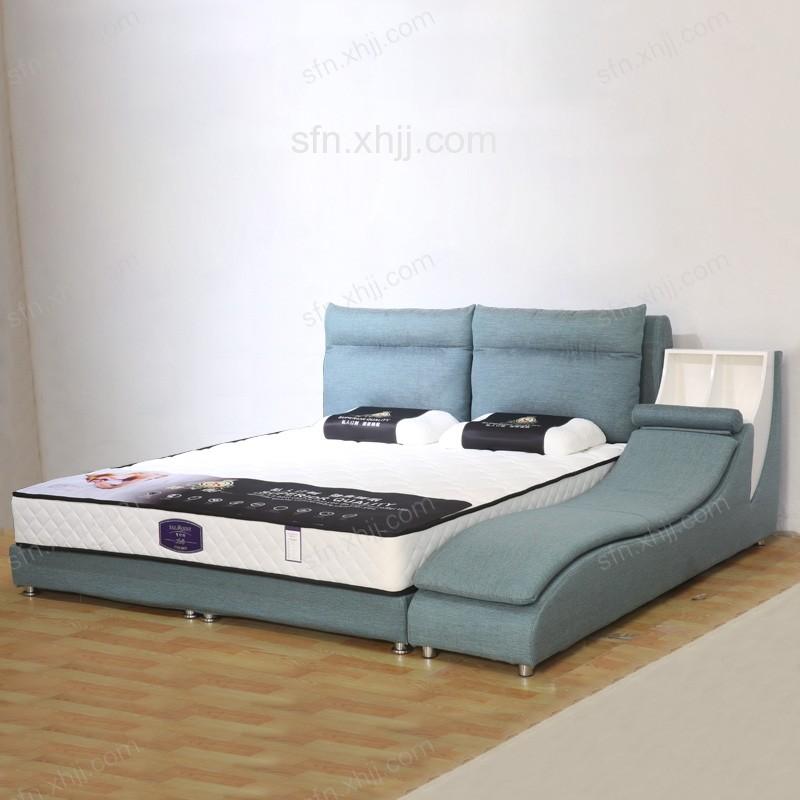 现代简约床 主卧双人储物床