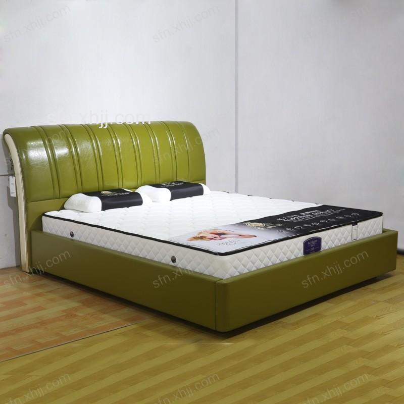 真皮主卧双人床 现代简约床