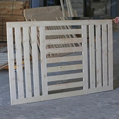 香河恒顺实木床铺板 透气环保松木排骨架实木床板