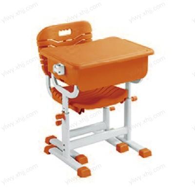北京可升降课桌椅 实木培训班靠背课桌椅
