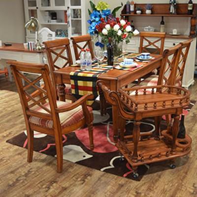 天津餐桌椅组合简约现代餐台环保餐厅桌
