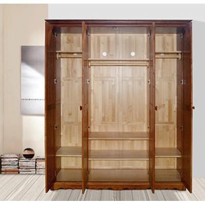 天津纯实木美式乡村衣柜组合简美衣柜