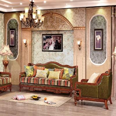 天津皮布艺沙发美式沙发大小户型实木沙发