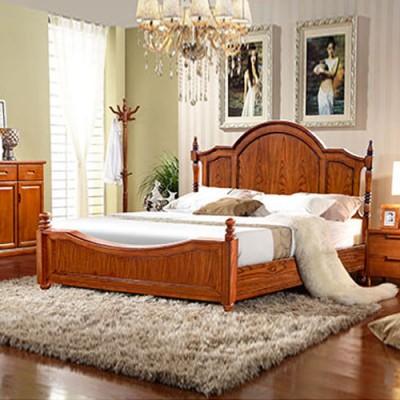 天津双人床1米5单人木质公主大床主卧婚床