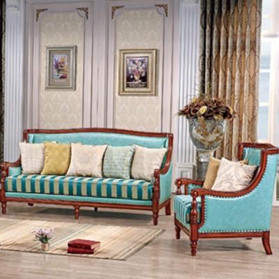 天津欧式沙发新古典实木奢华布艺沙发