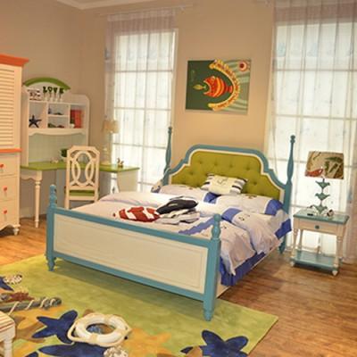 天津耐特家具书架床男孩女孩单人床松木床