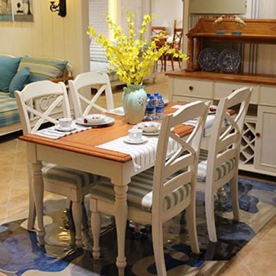 天津耐特家具地中海风格餐厅装修 美式家具定制效果图