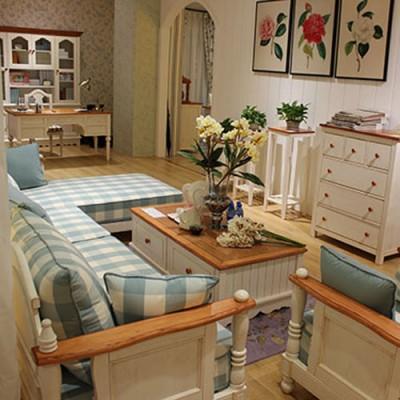 天津耐特家具美式田园风格实木客厅家具定制 美式家具全屋定制