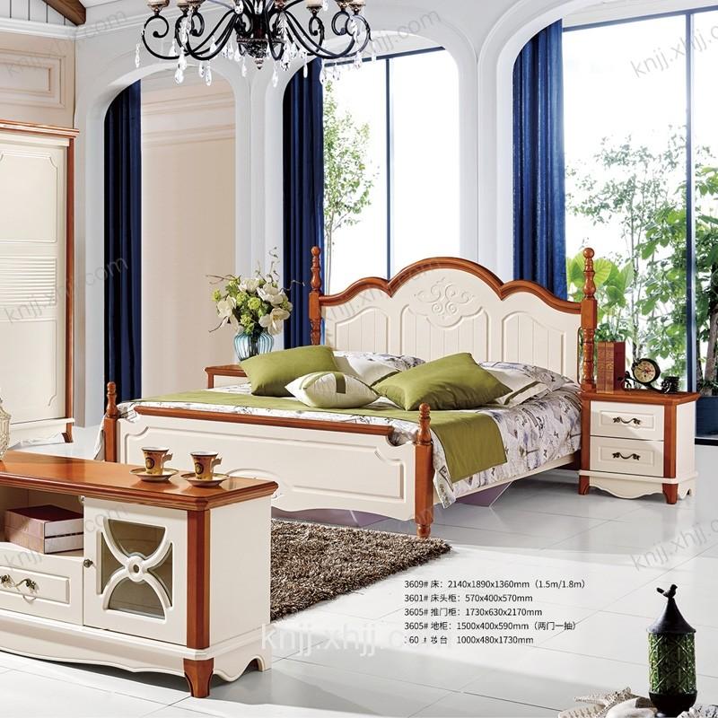 凯能英伦卧室家具 地中海风格床衣柜组合3609