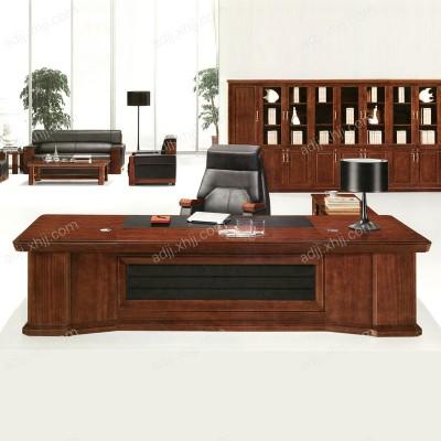 保定实木油漆老板桌办公桌01
