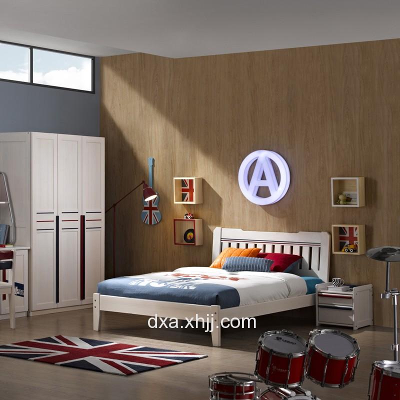 现代简约儿童床 成套卧室组合家具