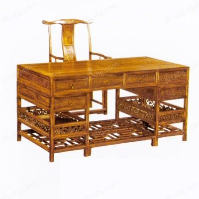 榆木办公书桌 中式仿古书桌01