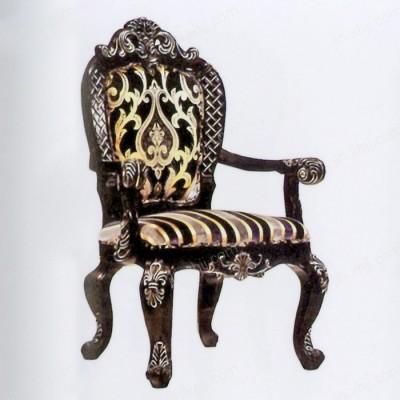 欧式实木餐椅 雕花扶手高档酒店餐椅05