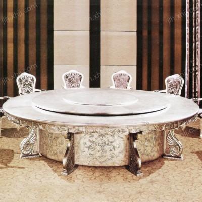 酒店电动餐桌 豪华大型宴会实木餐桌05